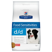 Hill's Prescription Diet d/d Food Sensitivitie Сухой лечебный корм для собак при заболеваниях кожи и аллергиях (с лососем и рисом)